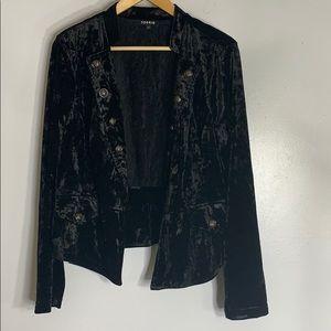 Torrid crushed velvet blazer jacket